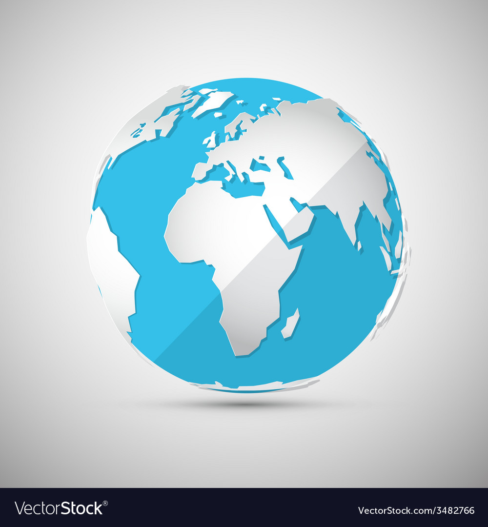 Globe - earth - planet vector | Price: 1 Credit (USD $1)