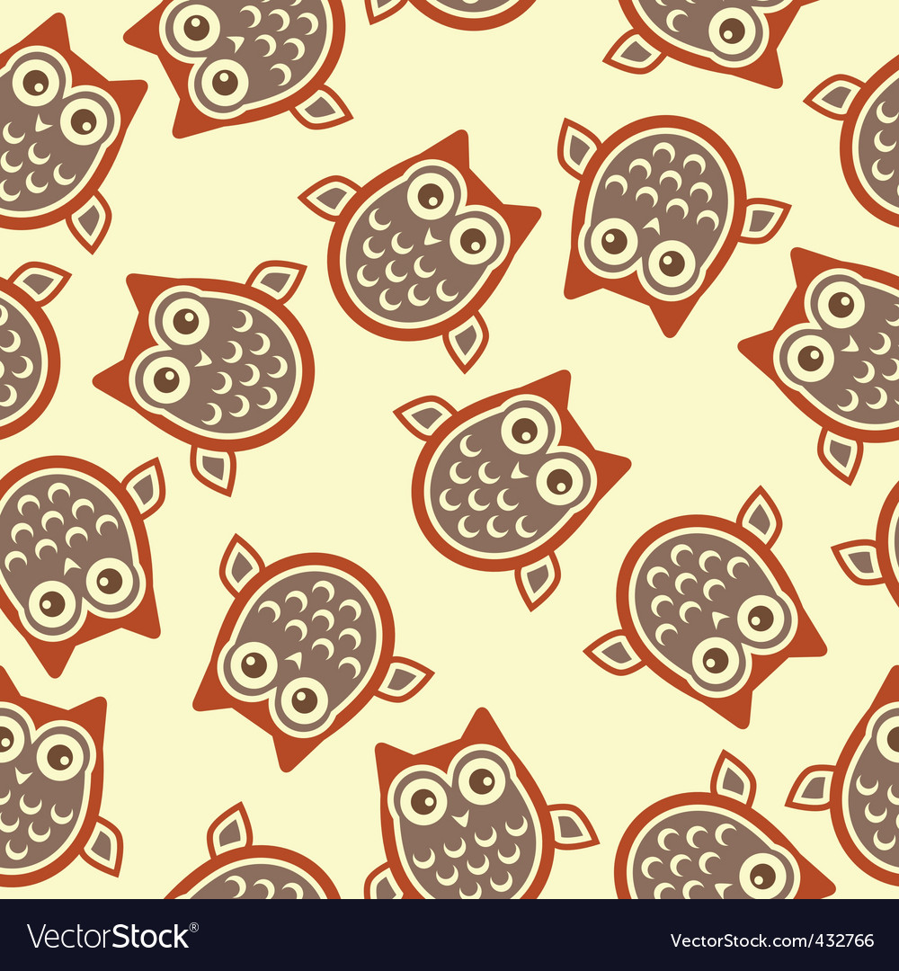 Owl background vector | Price: 1 Credit (USD $1)