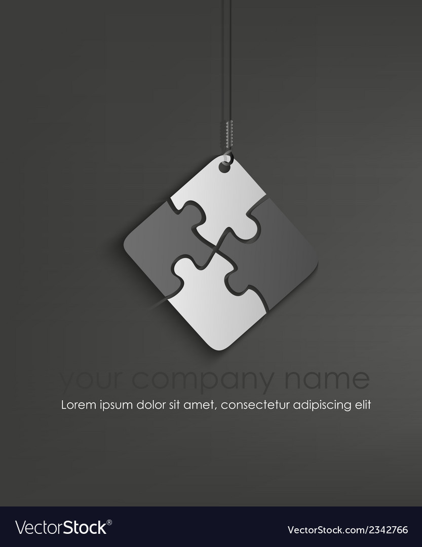 Puzzle web icon design element vector | Price: 1 Credit (USD $1)