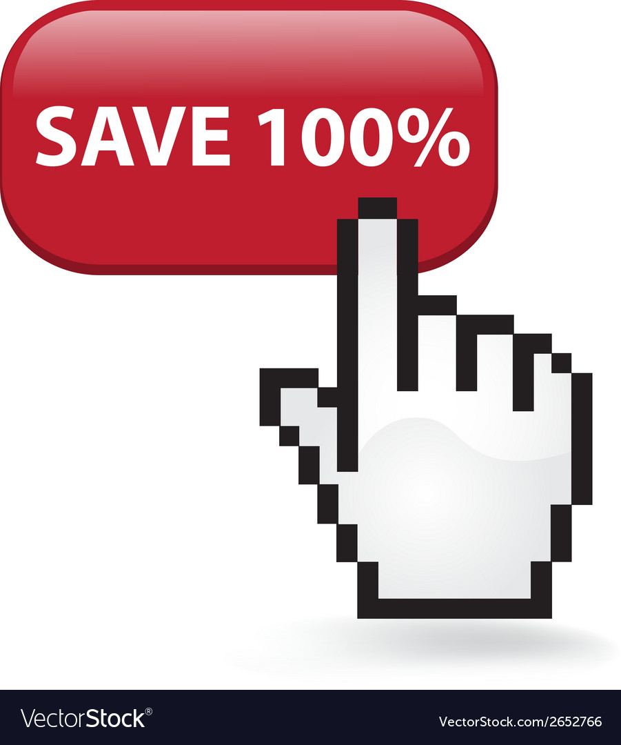 Save 100 button vector | Price: 1 Credit (USD $1)