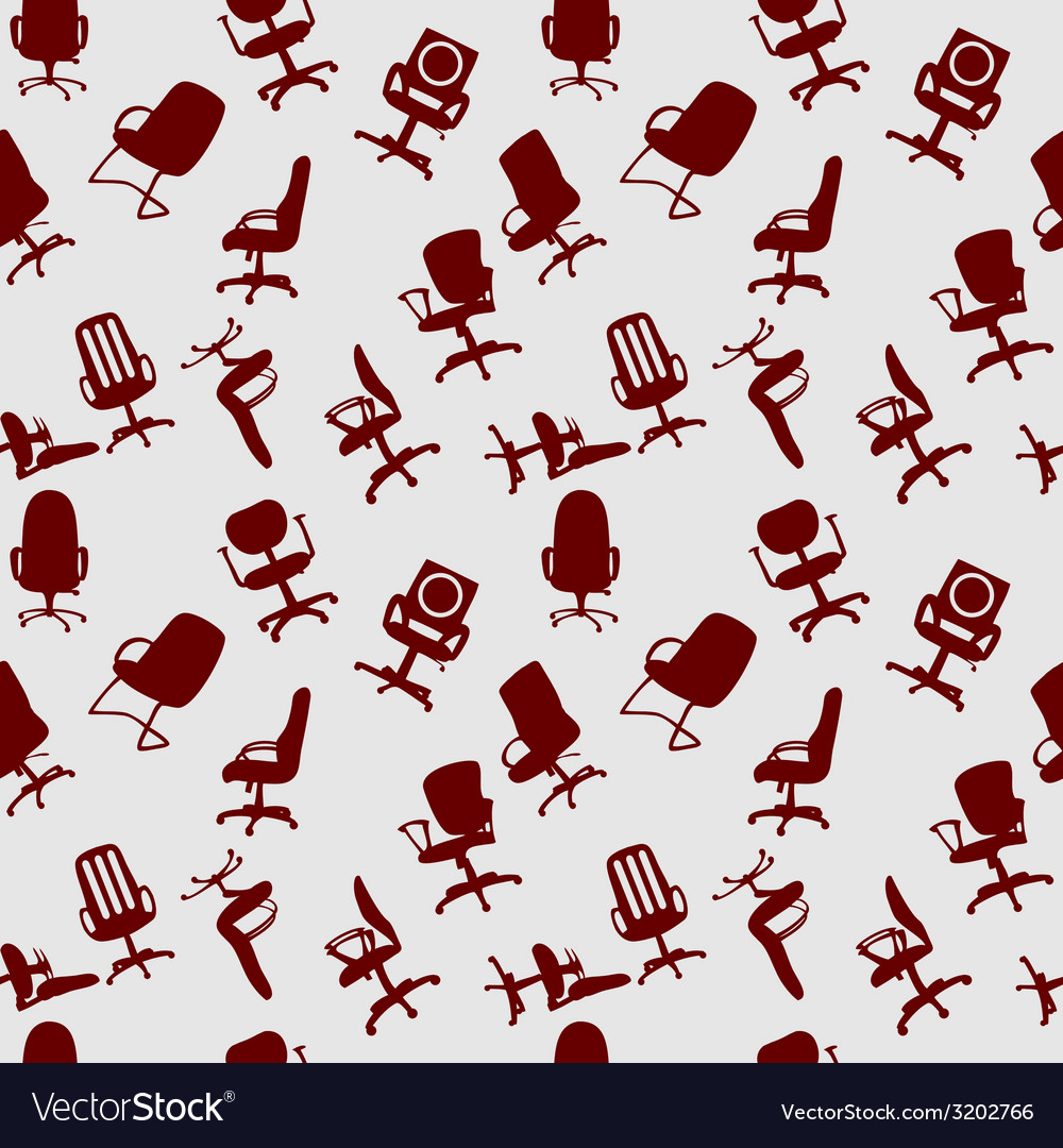 Seamless pattern of office chairs silhouettes vector | Price: 1 Credit (USD $1)