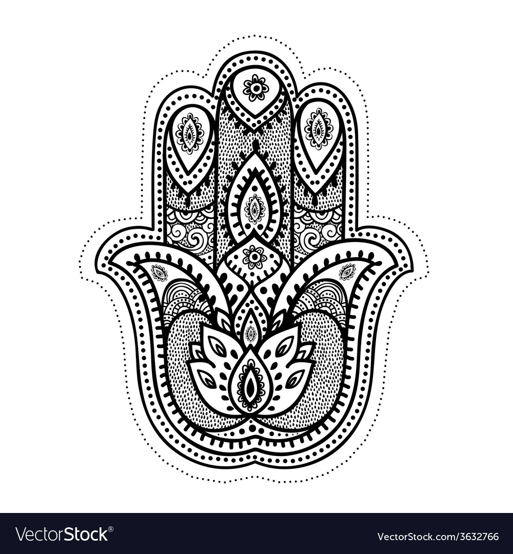 Set of ornamental indian symbols vector | Price: 1 Credit (USD $1)