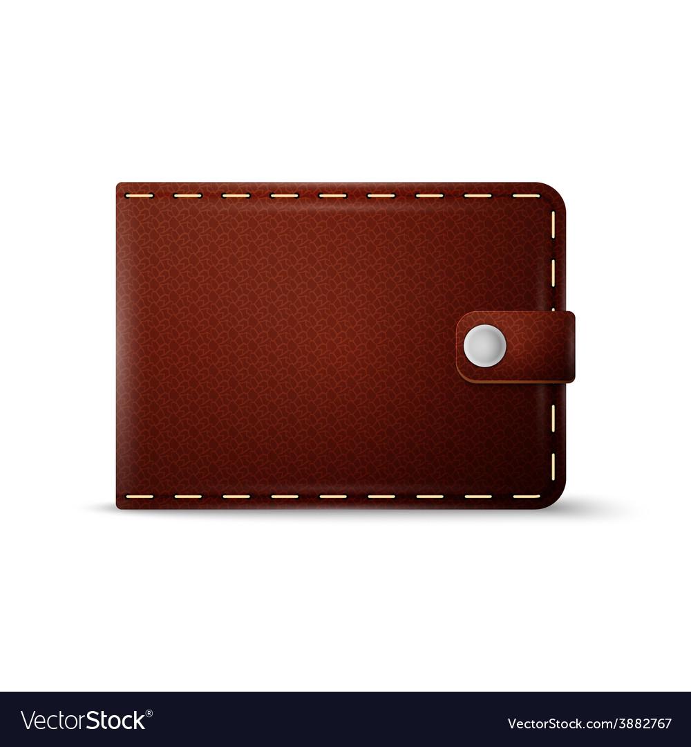 Black leather wallet vector