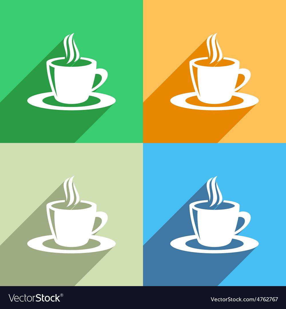 Coffee cup icon menu icon vector | Price: 1 Credit (USD $1)
