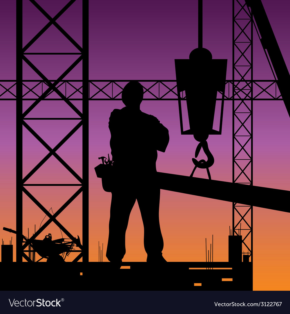 Construction man on work vector | Price: 1 Credit (USD $1)
