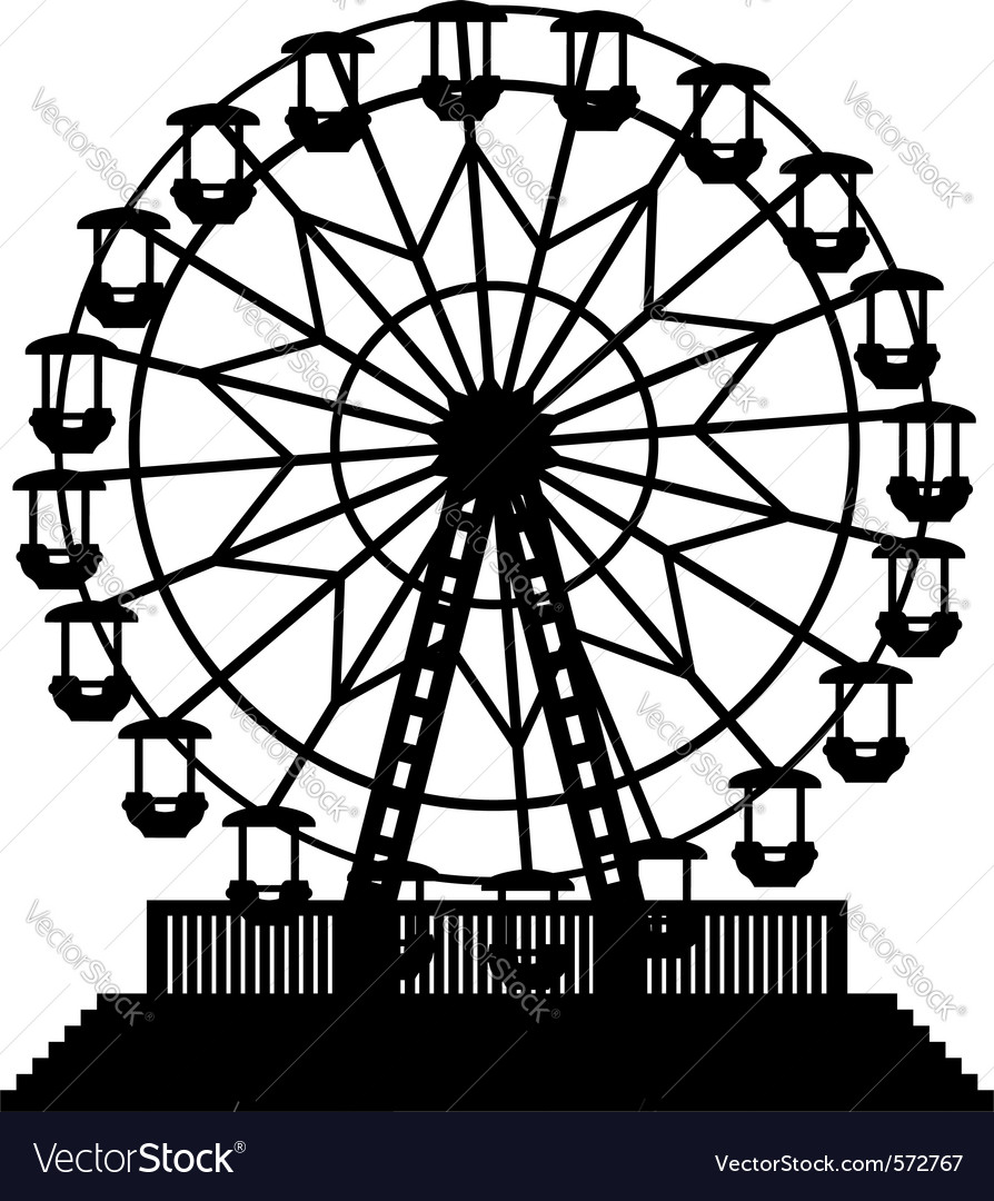 Ferris wheel vector | Price: 1 Credit (USD $1)