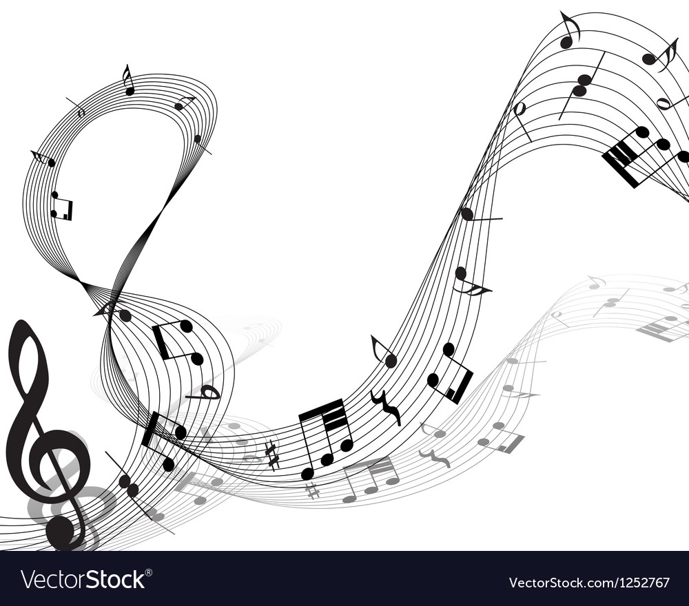 Musical note staff vector | Price: 1 Credit (USD $1)