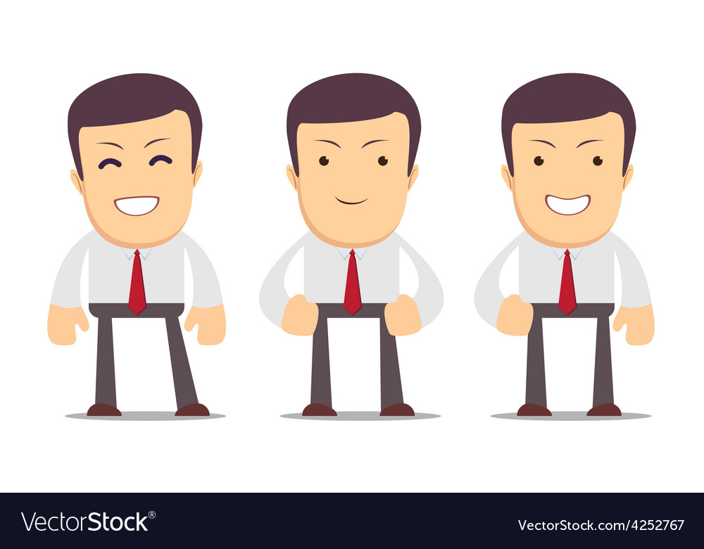 Set of manager character in different interactive vector | Price: 1 Credit (USD $1)