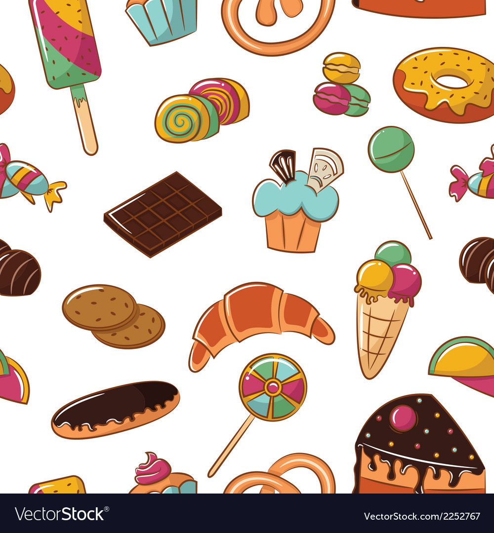 Sweets pattern vector | Price: 1 Credit (USD $1)