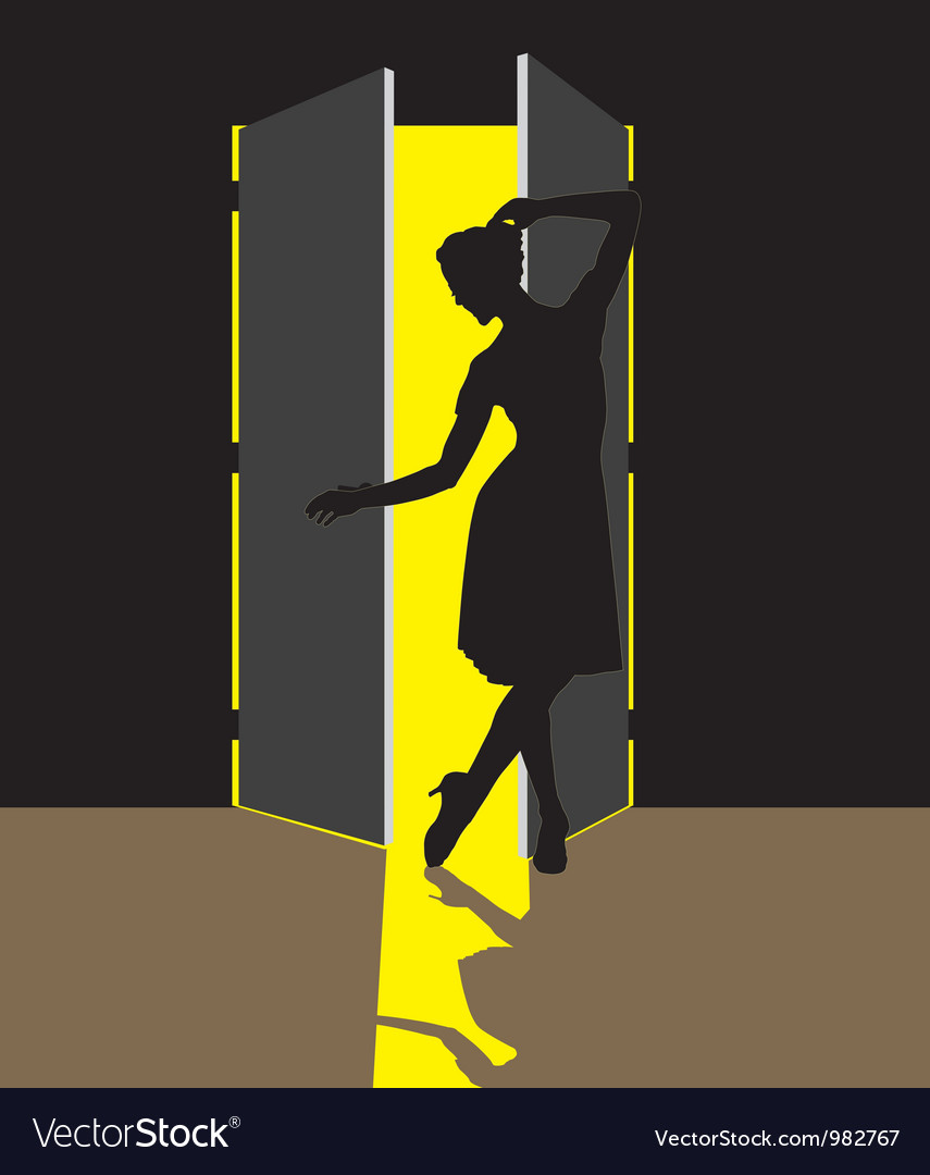 Woman in the doorway vector | Price: 1 Credit (USD $1)