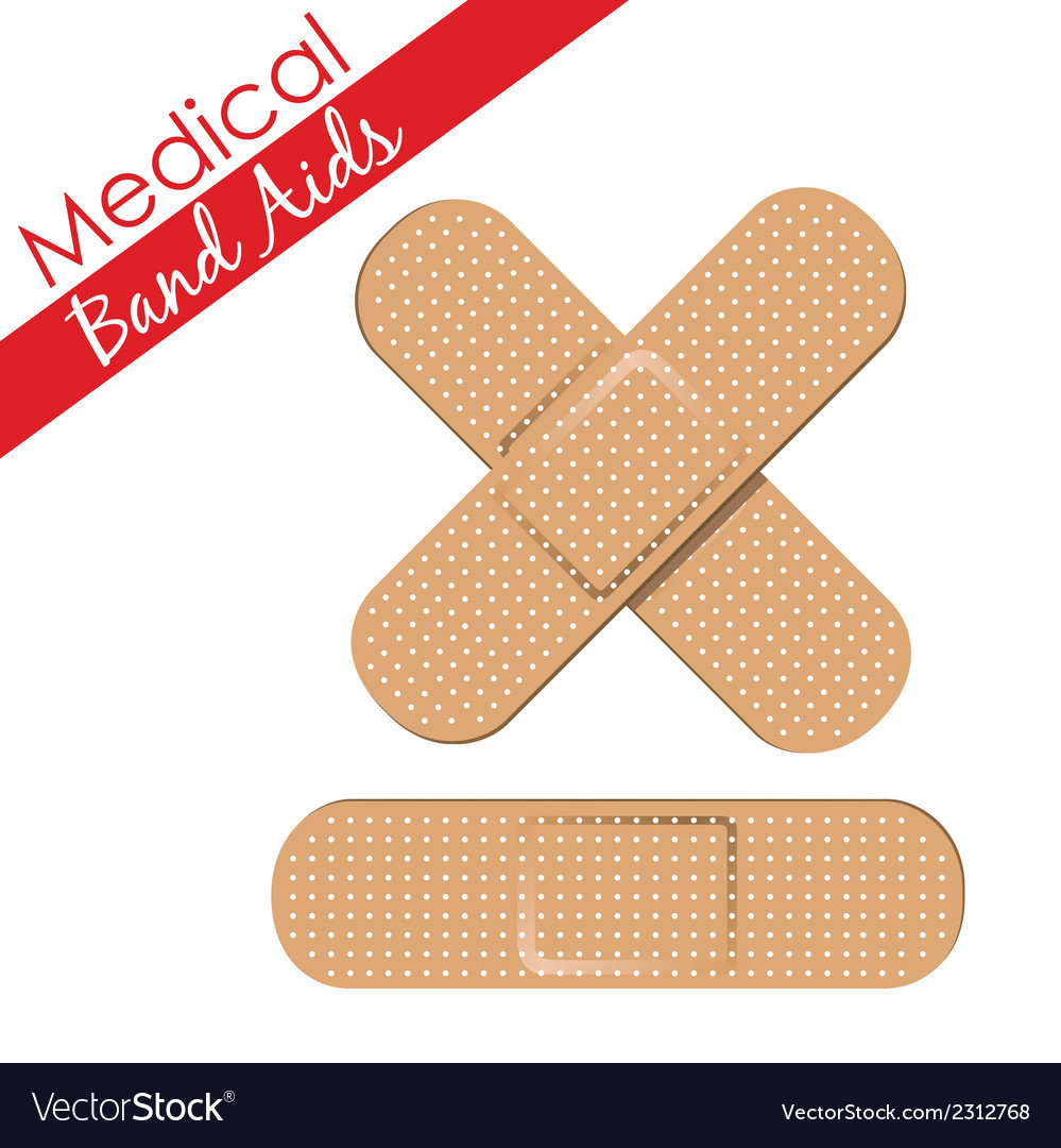 Band aids collection skin color medical set vector | Price: 1 Credit (USD $1)