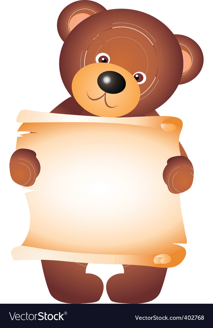 Bear with blank vector vector | Price: 1 Credit (USD $1)