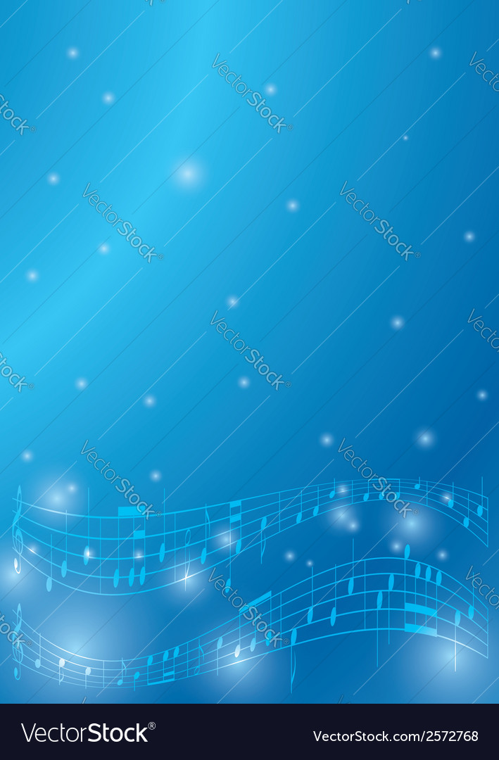 Blue flyer with musical notes vector | Price: 1 Credit (USD $1)