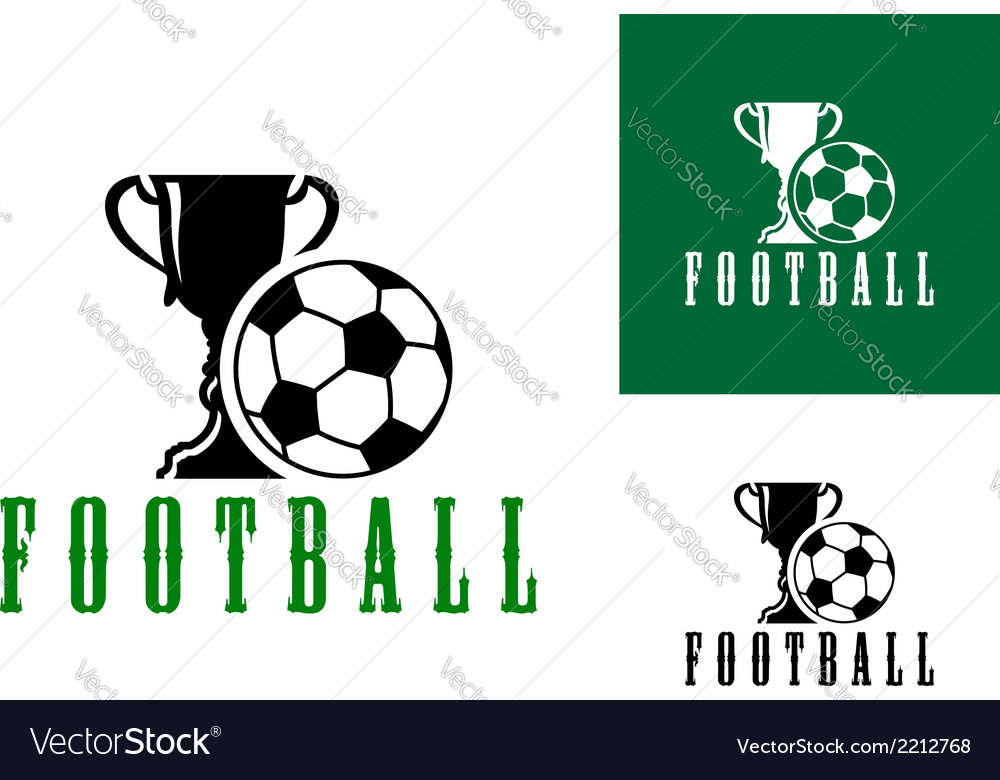 Championship football icon vector | Price: 1 Credit (USD $1)