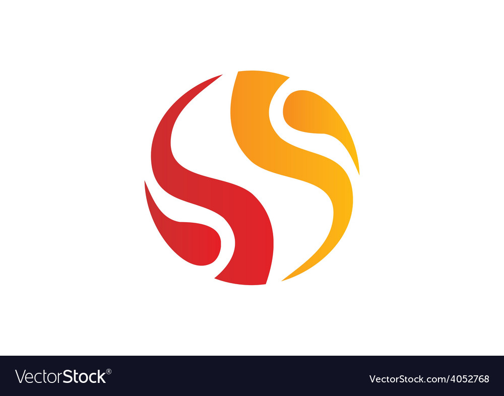 Circle fire swirl abstract logo vector | Price: 1 Credit (USD $1)