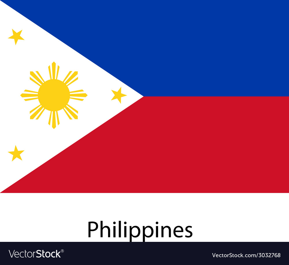 Flag of the country philippines vector | Price: 1 Credit (USD $1)