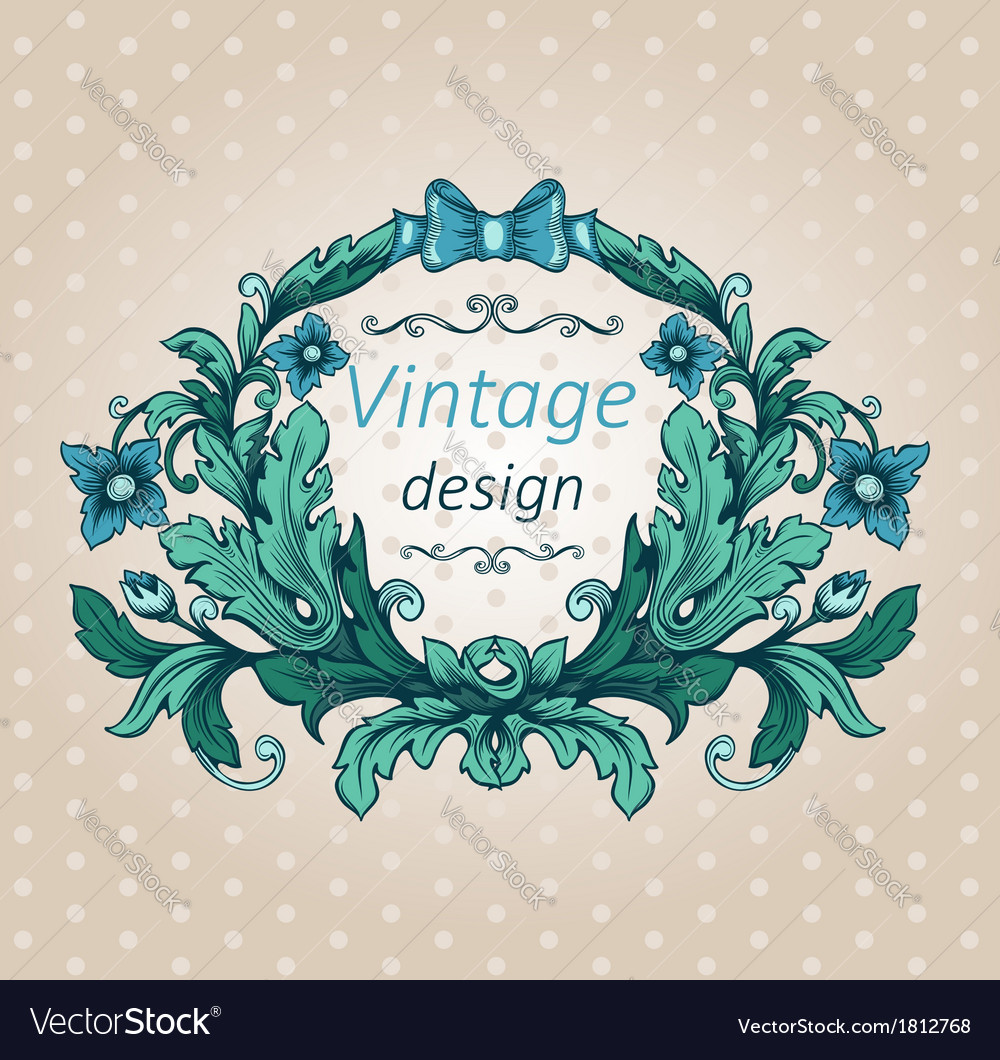 Floral cartouche vector | Price: 1 Credit (USD $1)