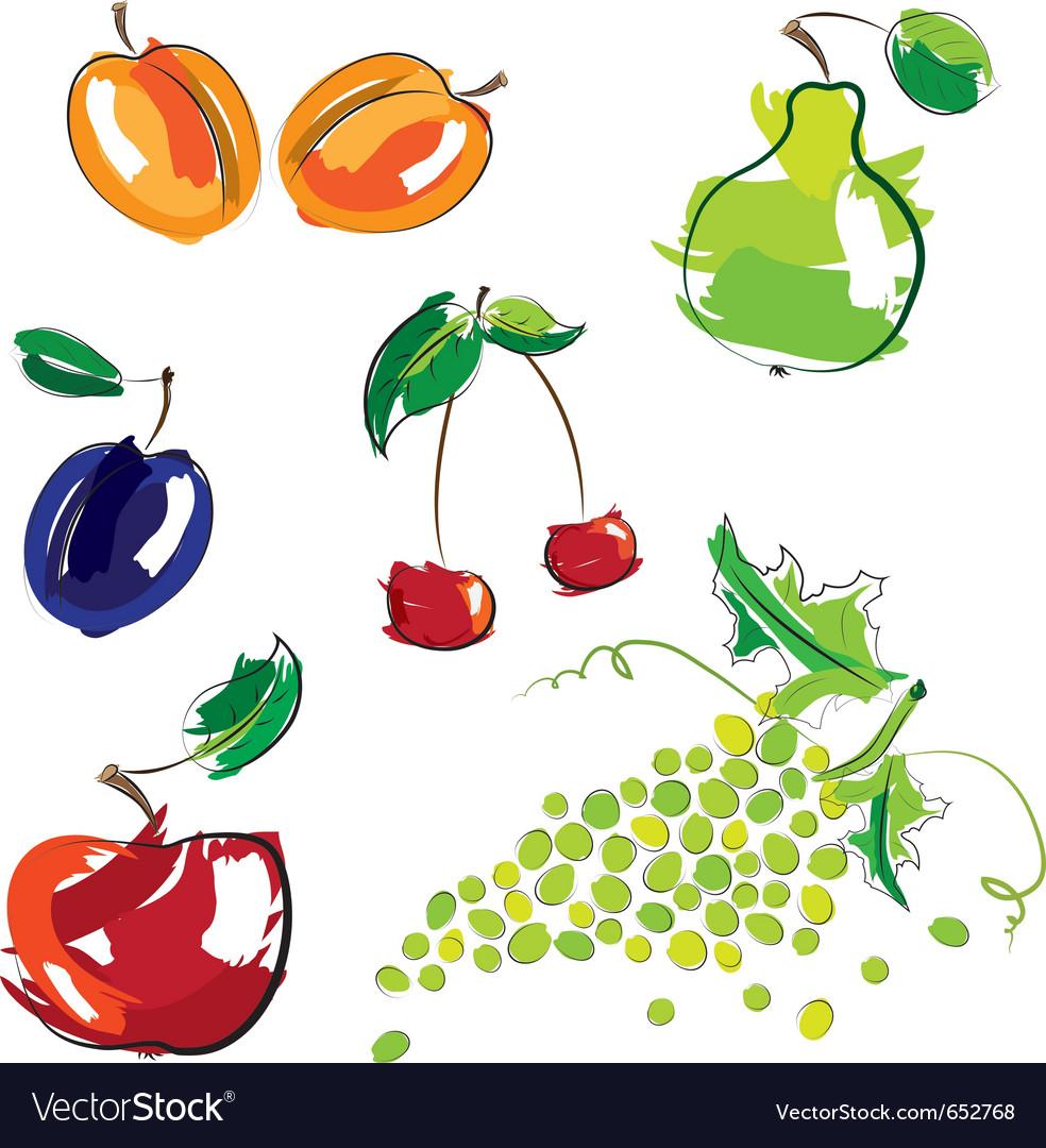 Hand drawn fruit vector | Price: 3 Credit (USD $3)