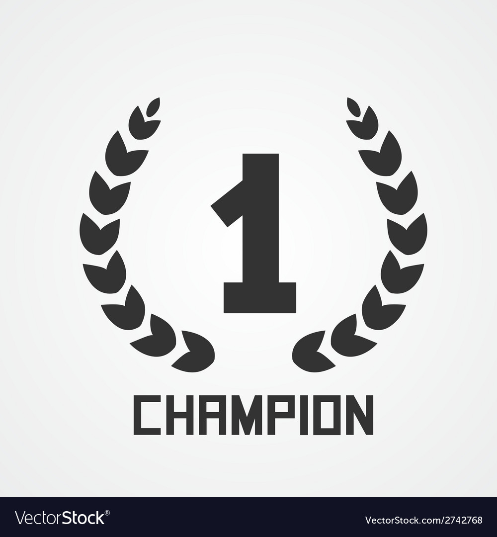 Laurel wreath for champion vector | Price: 1 Credit (USD $1)
