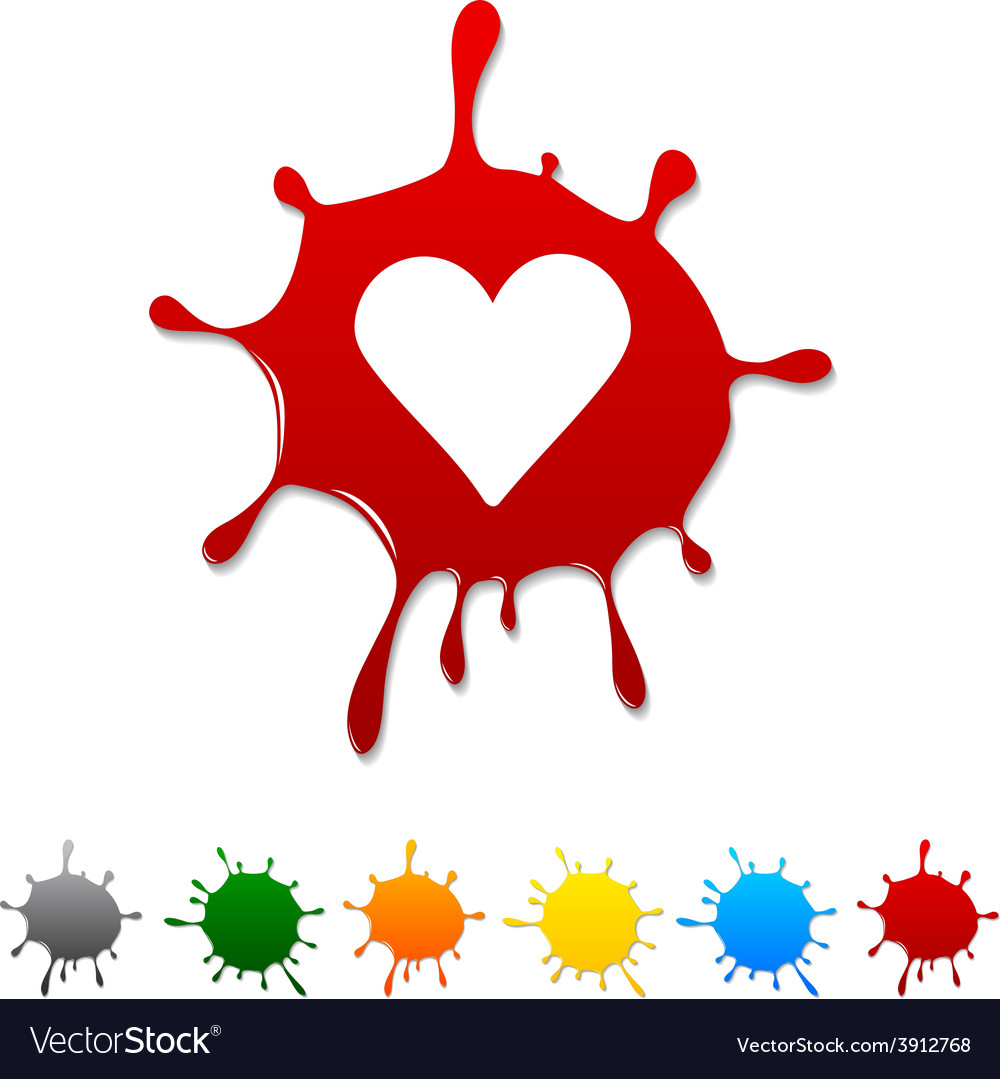 Love blot vector | Price: 1 Credit (USD $1)