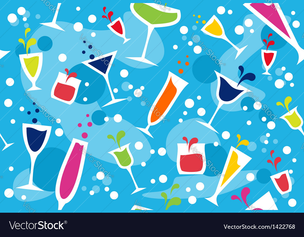 Multicolour cocktail pattern vector | Price: 1 Credit (USD $1)