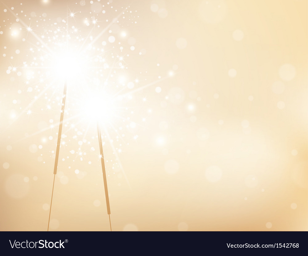 Sparklers golden background vector | Price: 1 Credit (USD $1)