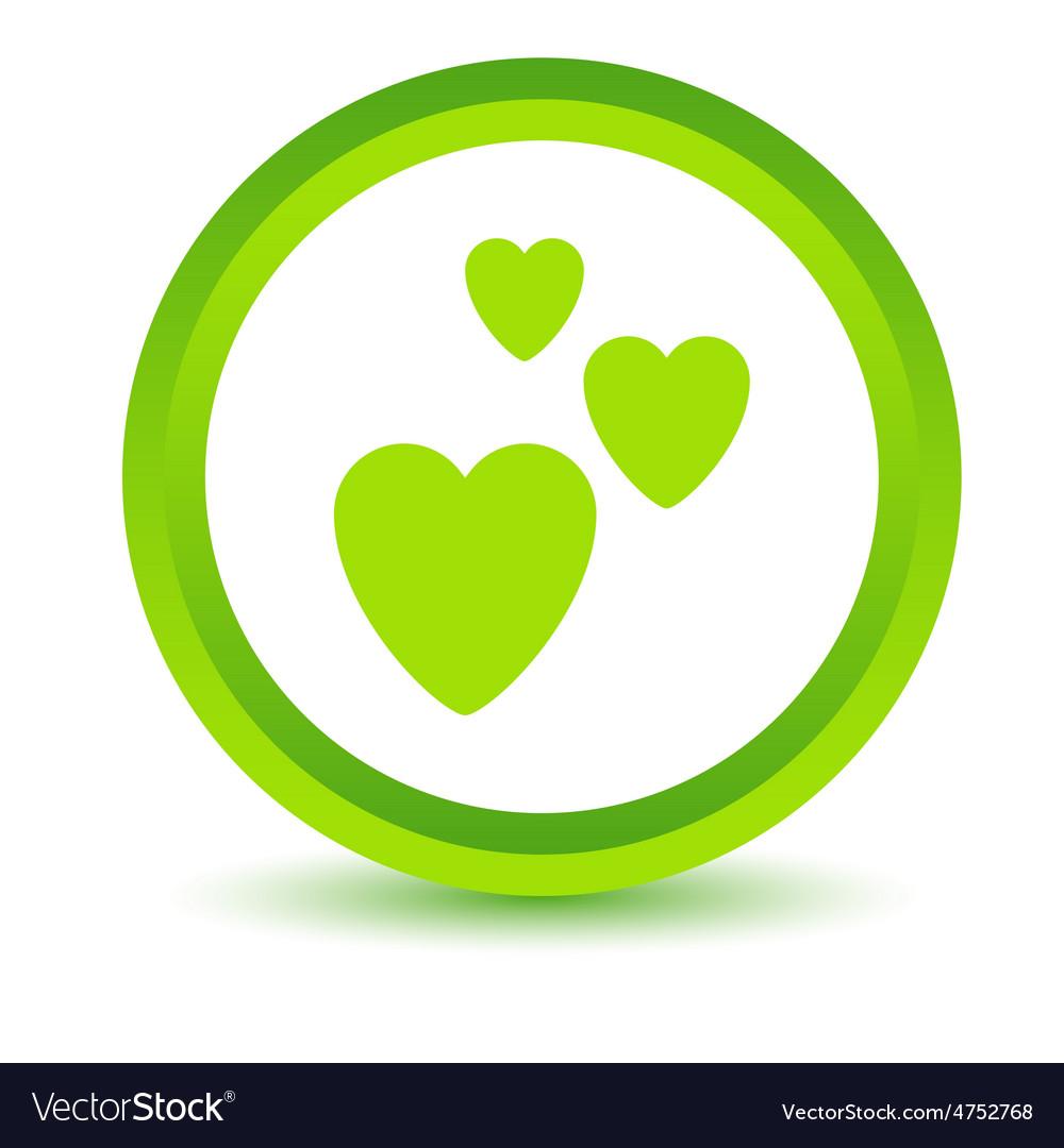 Three hearts volumetric icon vector | Price: 1 Credit (USD $1)
