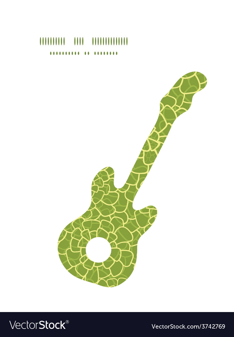 Abstract green natural texture guitar music vector | Price: 1 Credit (USD $1)