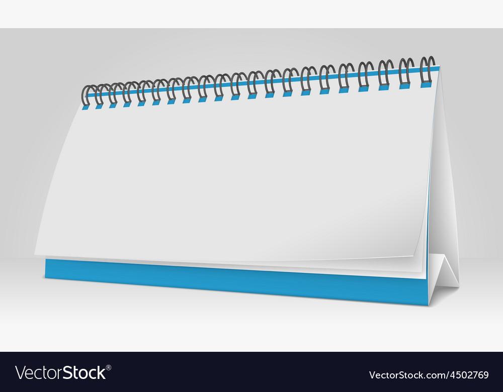 Blank paper desk spiral calendar vector | Price: 1 Credit (USD $1)