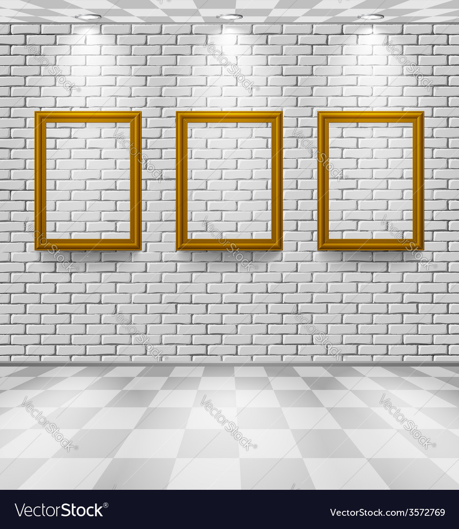 Brick room with frames vector | Price: 1 Credit (USD $1)
