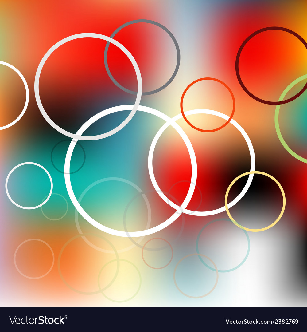 Colored circles on the blurred background vector   Price: 1 Credit (USD $1)
