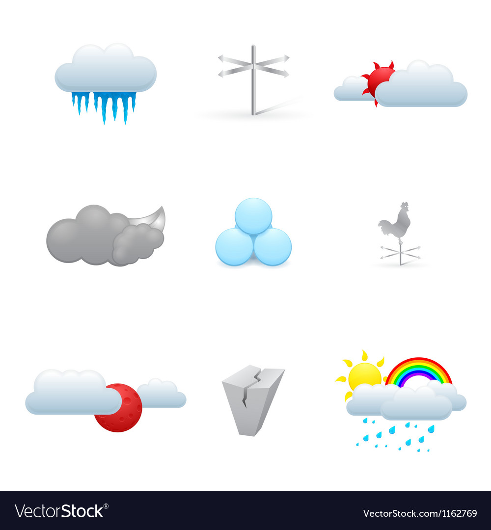 Colorful weather icons vector   Price: 1 Credit (USD $1)
