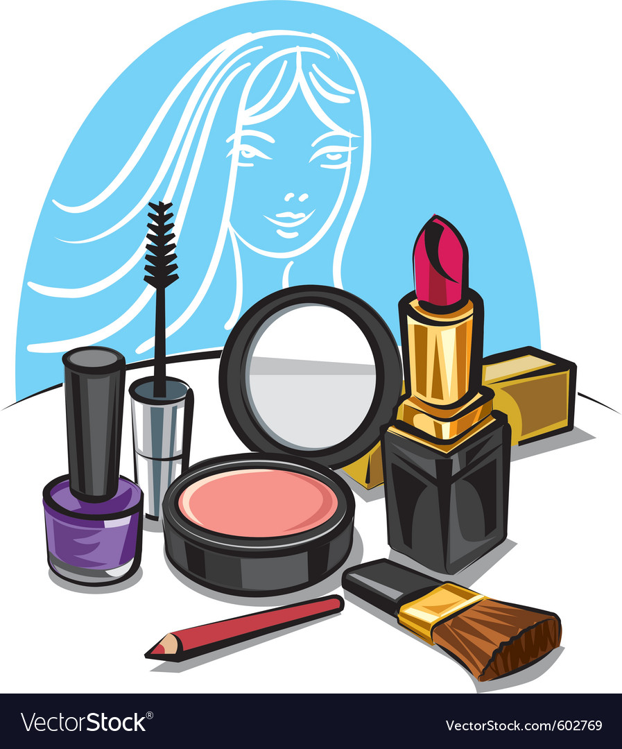 Cosmetic make up kit vector | Price: 3 Credit (USD $3)