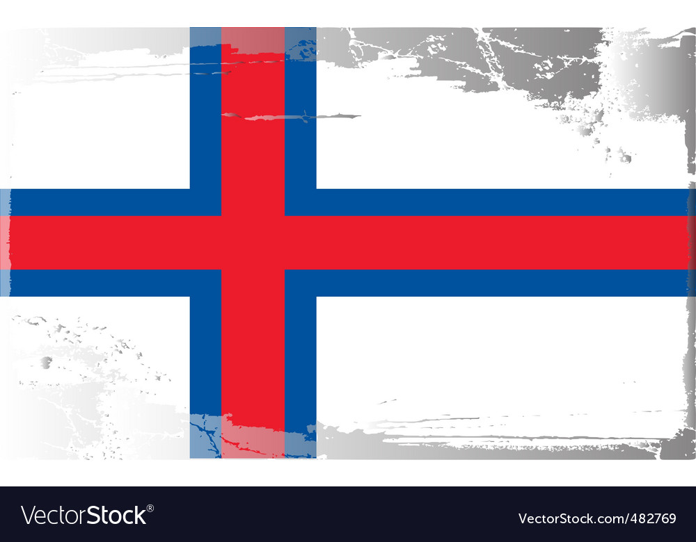 Faeroe islands national flag vector | Price: 1 Credit (USD $1)