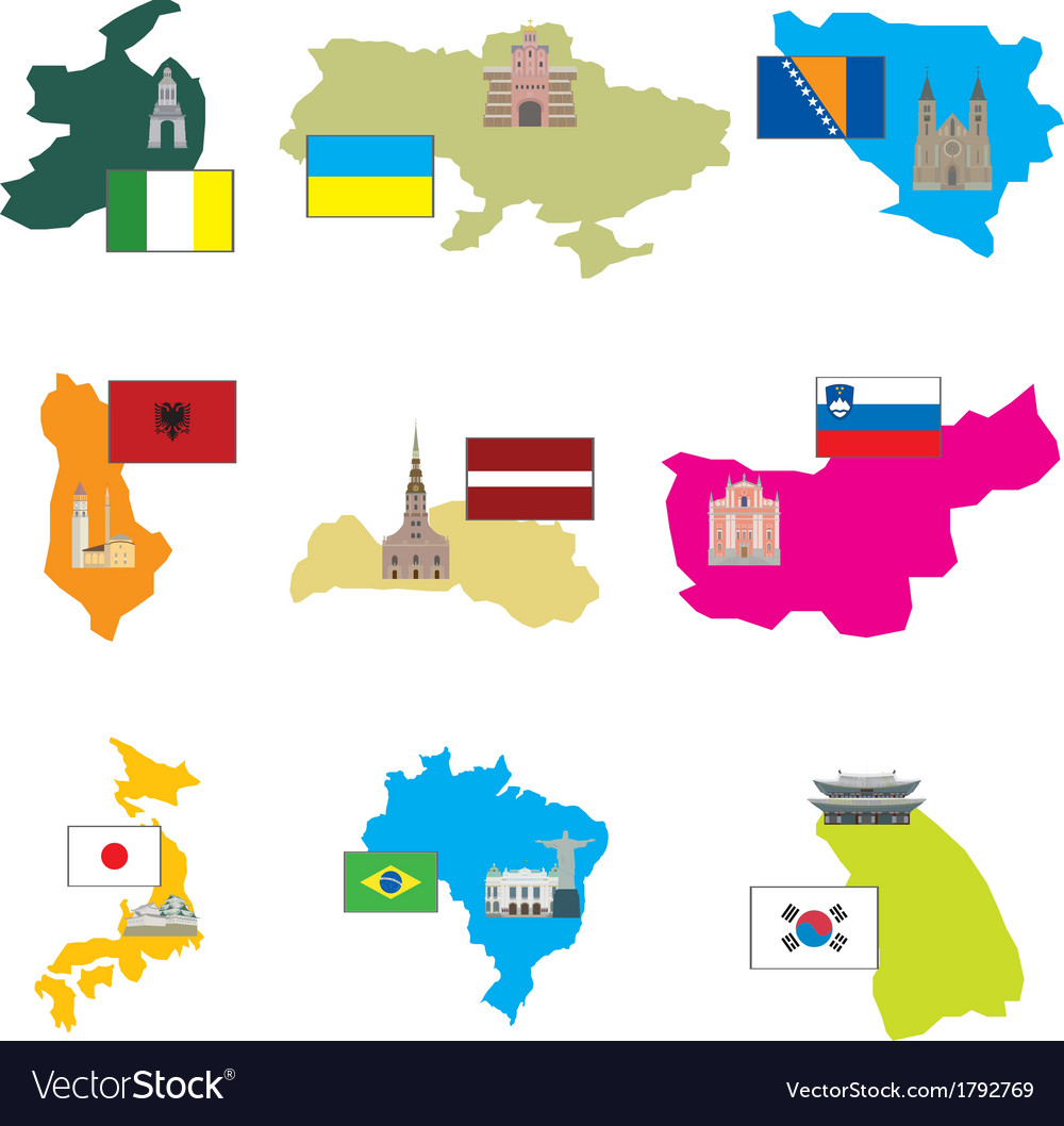 Flags and countries vector   Price: 1 Credit (USD $1)