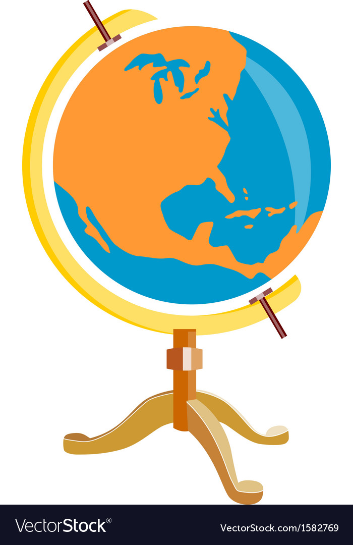 Globe america retro vector | Price: 1 Credit (USD $1)