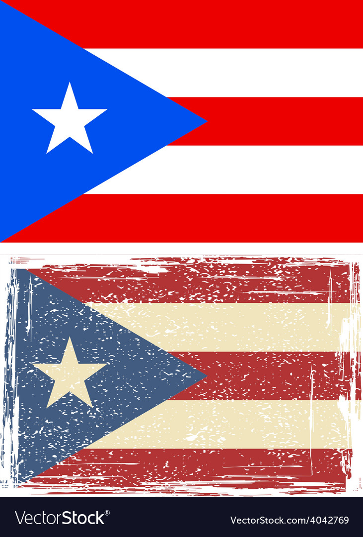Puerto rico grunge flag vector | Price: 1 Credit (USD $1)