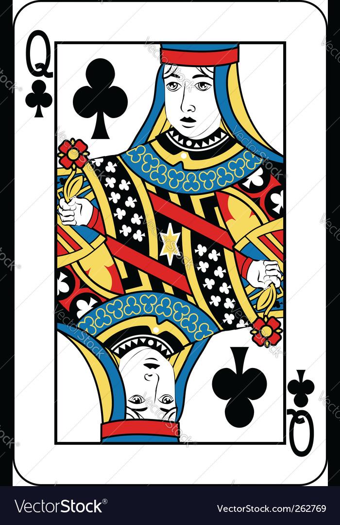 Queen of clubs vector | Price: 1 Credit (USD $1)