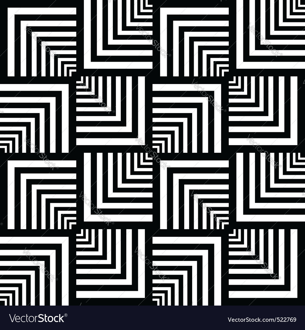 Seamless op art pattern vector | Price: 1 Credit (USD $1)