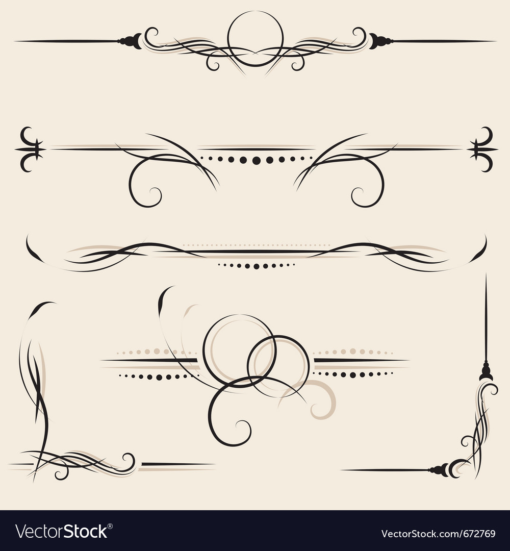 Set design elements and page decoration vector | Price: 1 Credit (USD $1)