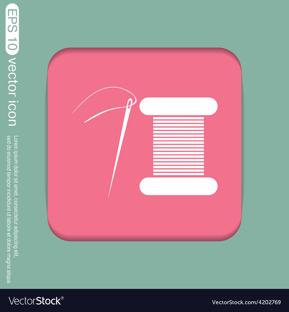 Spool of thread and needle a symbol of fashion vector | Price: 1 Credit (USD $1)
