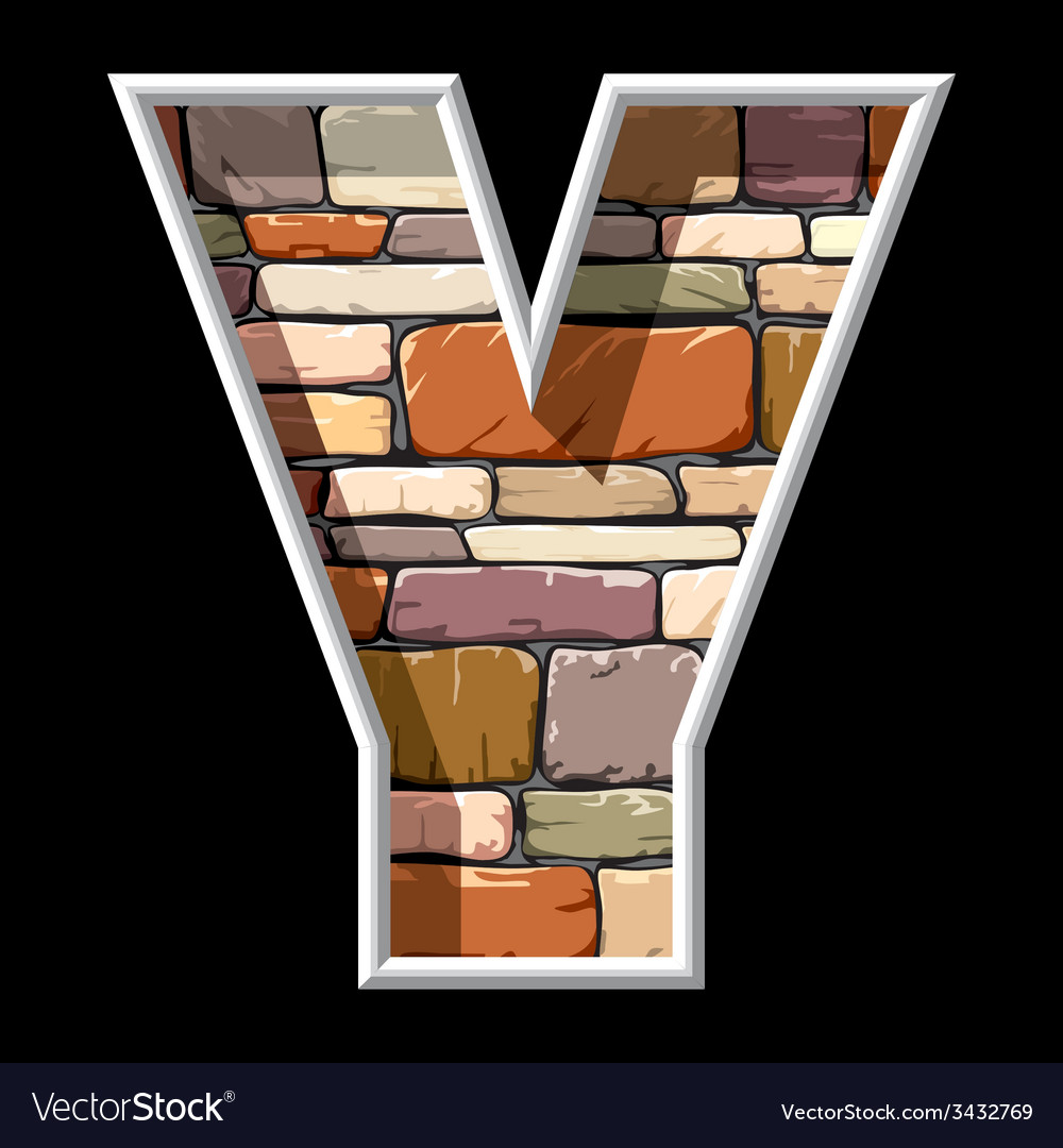 Stone letter y vector | Price: 1 Credit (USD $1)