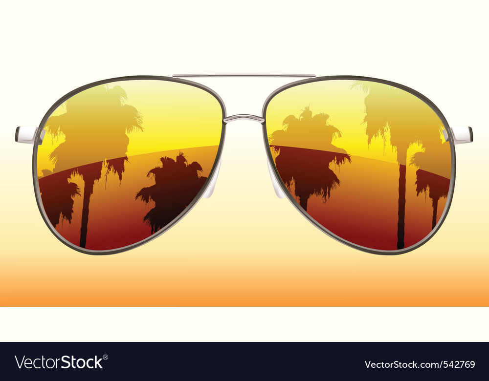 Sunglasses reflection vector | Price: 1 Credit (USD $1)