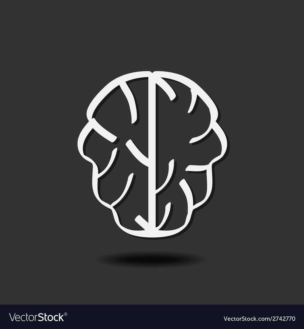Brain icon vector | Price: 1 Credit (USD $1)