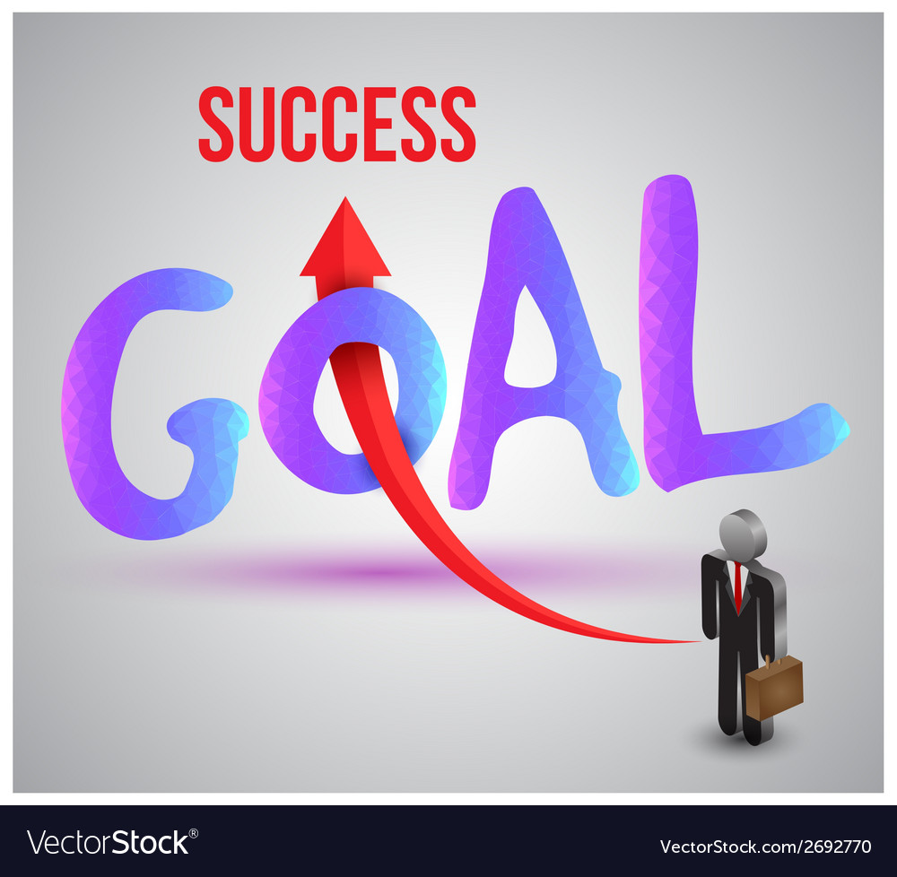 Goal to success vector | Price: 1 Credit (USD $1)