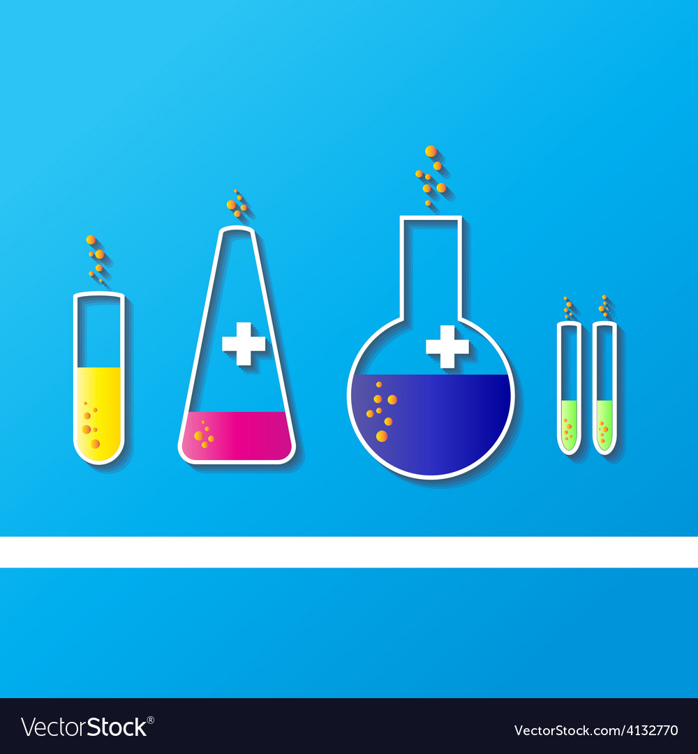 Laboratory glassware sketch vector | Price: 1 Credit (USD $1)