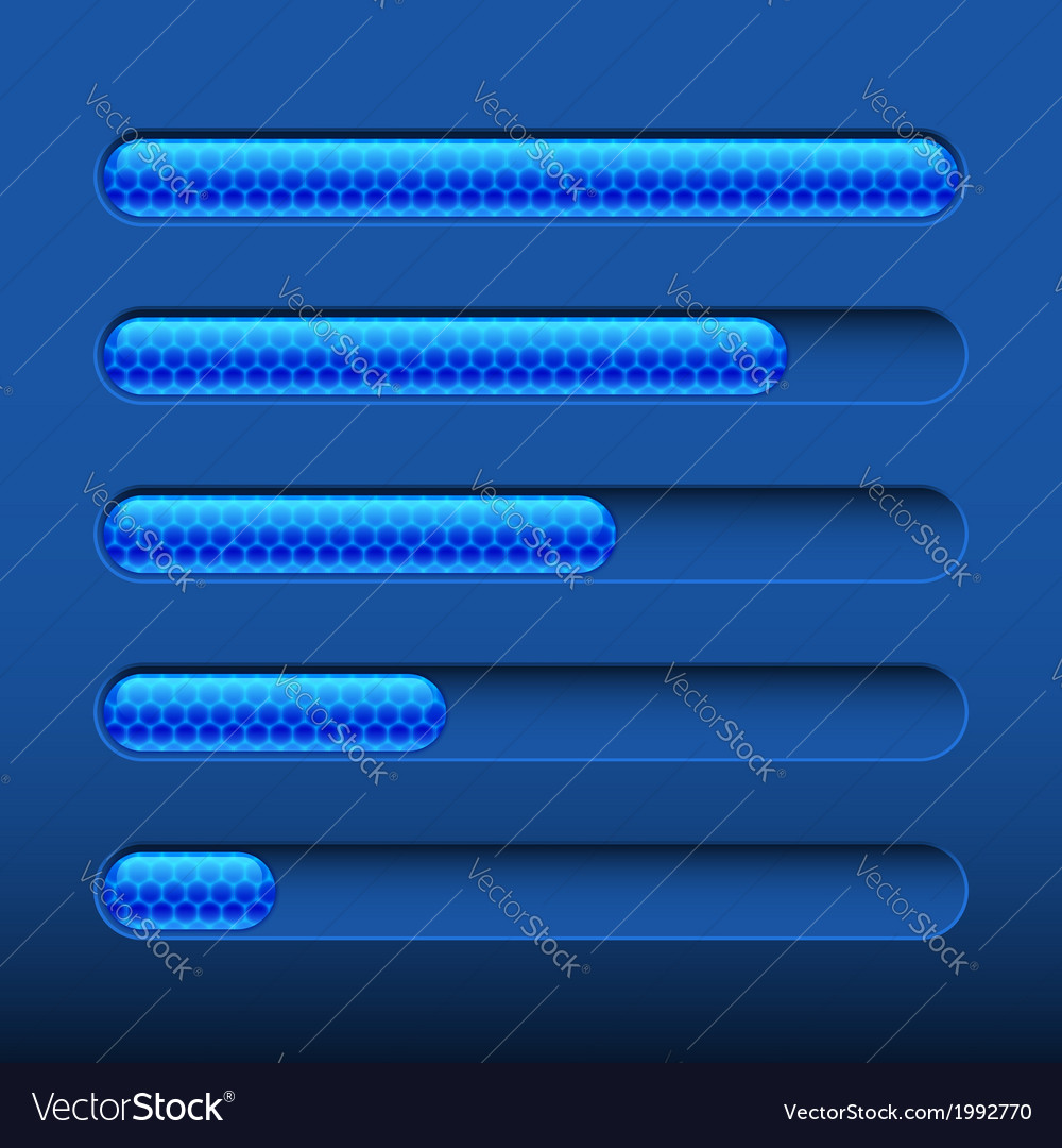 Loading bar on dark blue background vector | Price: 1 Credit (USD $1)