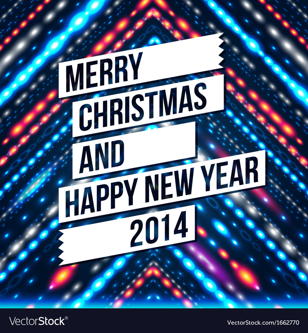Merry christmas and happy new year 2014 card vector | Price: 1 Credit (USD $1)