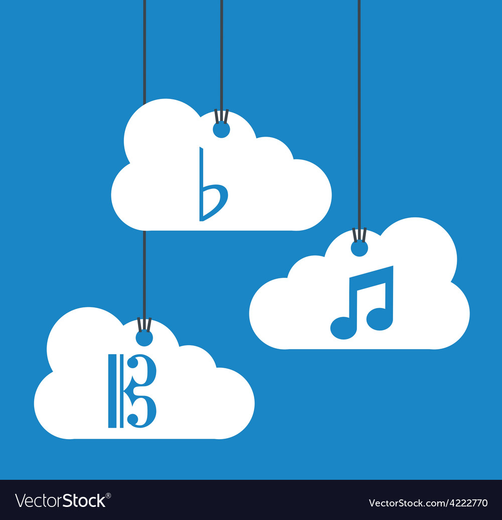 Music cloud vector | Price: 1 Credit (USD $1)