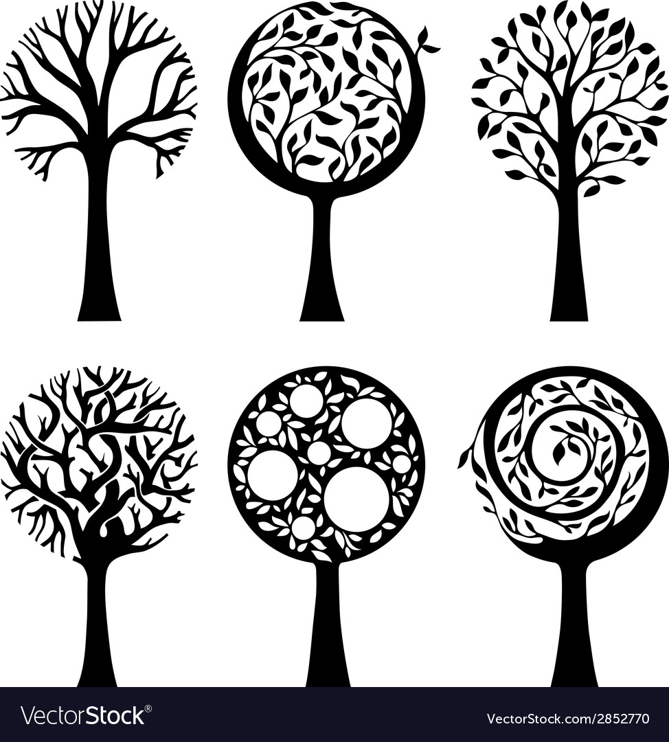 Ornate trees vector | Price: 1 Credit (USD $1)